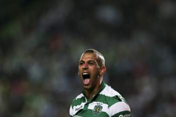 Sporting´s player Slimani reacts during their Portuguese First League match against FC Porto held at Alvalade Stadium in Lisbon, Portugal, 26 September 2014. JOSE SENA GOULAO/LUSA
