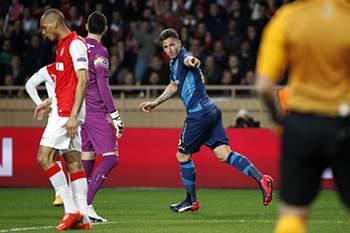 LC 2014/15: Mónaco-Arsenal