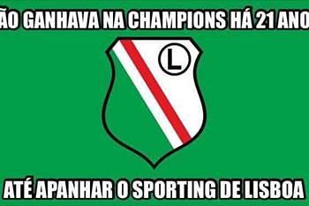 Os memes da derrota do Sporting com o Legia