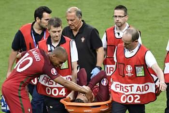 As lágrimas de Ronaldo na final
