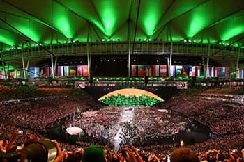 A Cerimónia de Abertura dos Jogos Olímpicos