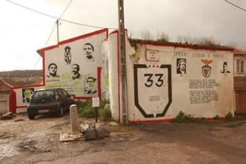 Benfica: Mural vandalizado antes do dérbi com SCP