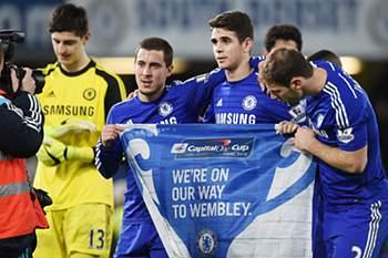 Chelsea já tem bilhete para a final