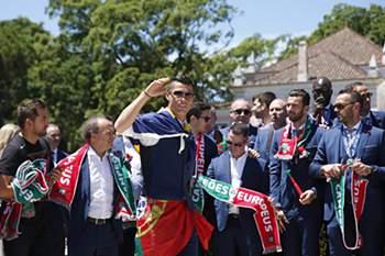 Festejos da Seleção Nacional em Lisboa