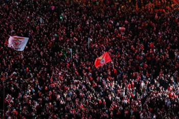 Benfica tetracampeão: a festa no Marquês