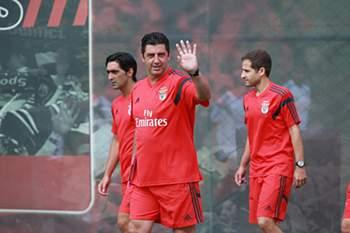 O primeiro treino do novo Benfica