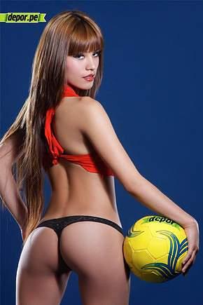 Cathy Justo, modelo peruana