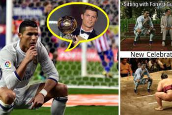 'Memes' do festejo de Ronaldo percorrem o Mundo