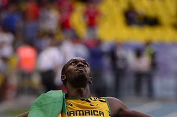 Usain Bolt de ouro em Moscovo2013