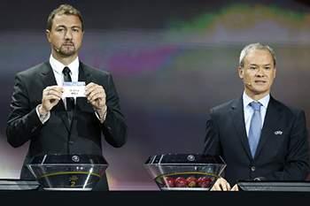 O sorteio da Liga Europa