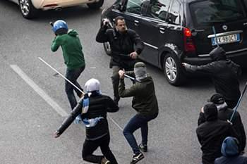 Violência na final da Taça de Itália