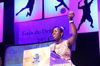 Suzana Fernandes de Barros, a melhor do andebol