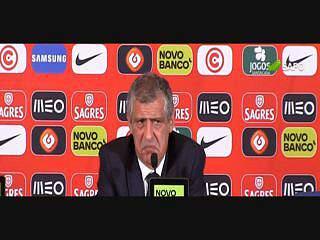 """Fernando Santos: """"Não estou preocupado com a situação de Ronaldo"""""""
