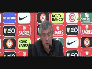 """Fernando Santos: """"Champions? Vamos torcer pelo Cristiano e pelo Pepe"""""""