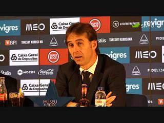 """""""O treinador do Benfica tem trabalho, certo?"""", pergunta Lopetegui"""