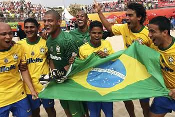 Brasil 'rouba' o Mundialito a Portugal