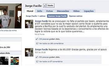 Fucile explica ausência… no Facebook