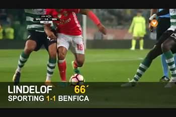 """Lindelof marca à """"Ronaldo"""" e empata derbi."""
