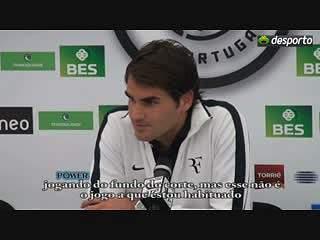 """Federer: """"O Albert fez um bom jogo"""""""