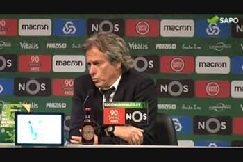 """Jesus: """"Benfica não teve uma oportunidade de golo"""""""