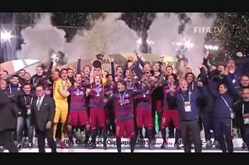 A festa do Barcelona campeão do Mundo