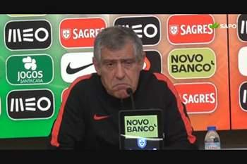 """Fernando Santos: """"Confusão entre as claques? Não vi nada disso"""""""
