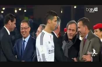 Ronaldo ignora Platini depois do triunfo