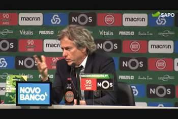 """Jorge Jesus: """"Não é por cumprimentar um treinador que o futebol será pacífico"""""""