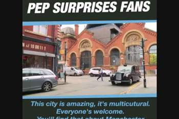 Guardiola surpreende adeptos do City num táxi