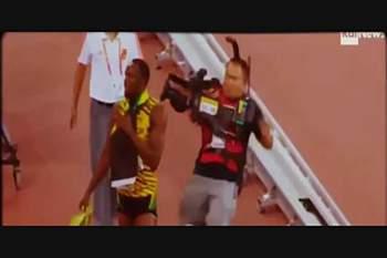 """Bolt foi atropelado por um """"segway"""" após vencer 200 m"""