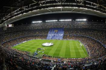 FC BARCELONA VS BATE BORISOV • epa05011253 General view during the UEFA Champions League match between FC Barcelona and FC Bate Borisov at Camp Nou stadium in Barcelona, Catalonia, Spain, 04 November 2015. EPA/QUIQUE GARCIA • Lusa