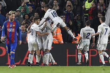 O golo do Real chegou aos 90 minutos.