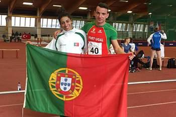 Os atletas Lenine Cunha e Cláudinha Santos