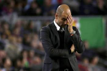 Pep Guardiola reage à derrota do Manchester City em Camp Nou.