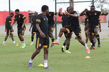 Preparação para o jogo contra a RDC.
