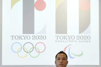 epa04872358 Japanese designer Kenjiro Sano attends a press conference regarding the Tokyo 2020 Olympics logo plagiarism dispute in Tokyo, Japan, 05 August 2015. Sano met the press after a Belgian designer asked the Japanese Olympic Committee to not use Sano's Tokyo 2020 Olympics logo that was officially unveiled on 24 July 2015. Sano said that he didn't know about the work of Belgian designer Olivier Debie for the Theatre de Liege and denied any plagiarism. He also denied having being inspired by a logo created by Spain's Hey Studio back in 2011. EPA/FRANCK ROBICHON
