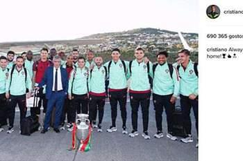 Ronaldo e a seleção na Madeira