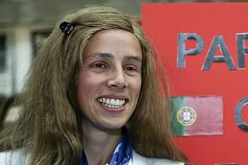 Carolina Duarte, a campeã europeia dos 100 metros T13 que sonha com um pódio • Carolina Duarte, a campeã europeia dos 100 metros T13 que sonha com um pódio. • António Cotrim