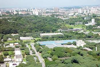 Region of São Paulo, river Pinheiros and USP University city