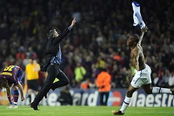 Eto'o e Mourinho.