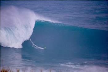 Onda surfada na Nazaré, a 1 de novembro de 2015