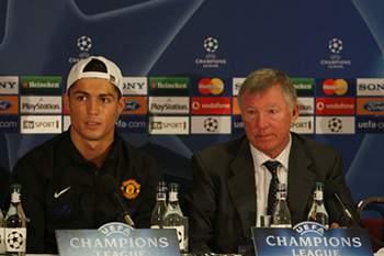 Ronaldo e Sir Alex Ferguson
