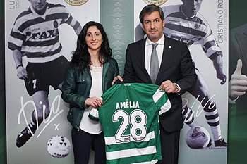 Amélia Vale Pereira, jogadora do Sporting