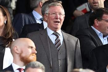 Alex Ferguson durante um jogo do Manchester United