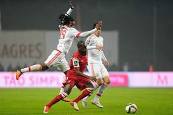Braga-Benfica: Luiz Carlos e Renato Sanches