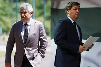 Luís Filipe Vieira e Bruno de Carvalho • LUSA