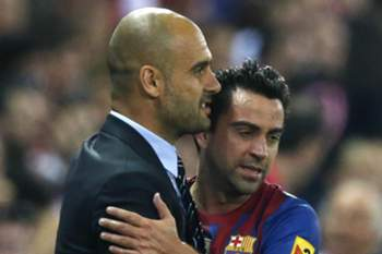 Pep Guardiola e Xavi