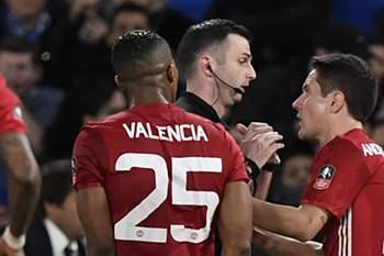 Herrera foi expulso no jogo da Taça de Inglaterra entre Chelsea e Manchester United