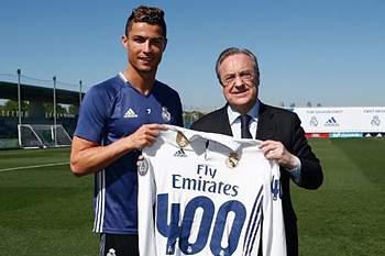 Ronaldo e Florentino Pérez