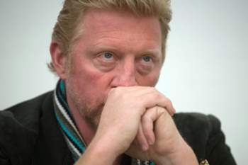Boris Becker at poker tournament